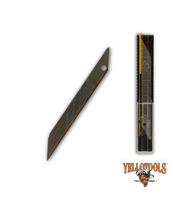 Lames TITANE 9mm - 30° - étui 10 lames