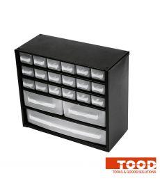 Casier à vis métallique 21 tiroirs