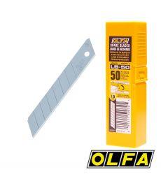 Lames acier pour cutters 18mm - étui 50 lames