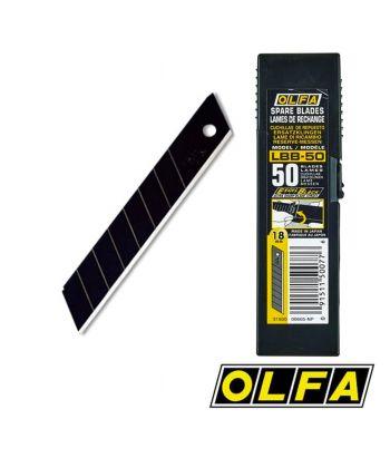 Lames EXCEL BLACK 18mm - étui 50 lames