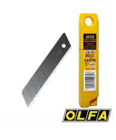 Lames acier PRO pour cutters 25mm (20 lames)