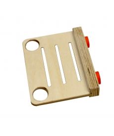 Support magnétique pour cartes d'identification