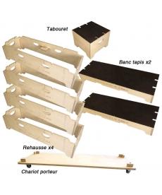 Kit 8 éléments banc/estrade
