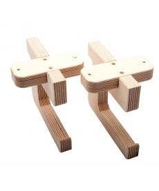 Support patère sous table pour règle de coupe (lot de 2 crochets)