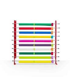 WALLRACK - Rack mural 10 tubes (laize 162cm maxi) complet