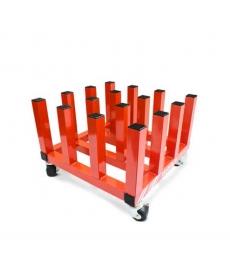 Ratelier mobile pour 16 rouleaux (laize 162cm maxi)