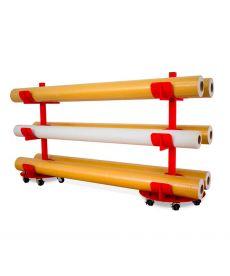 JUMBO - Support mobile pour 6 rouleaux (laize 500cm maxi)