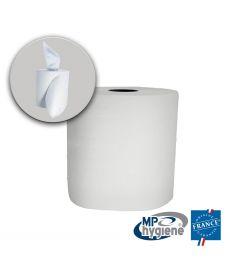 Essuyage papier blanc lisse - bobine de 1000 feuilles